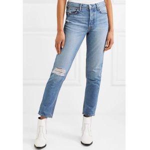 GRLFRND Kiara Denim Jeans with distressing
